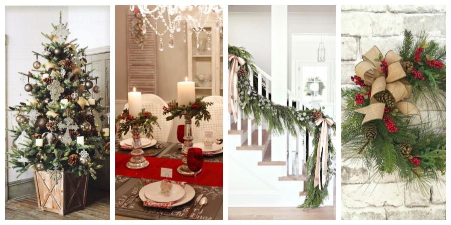 25+ nápadů na Vánoční interiérové dekorace