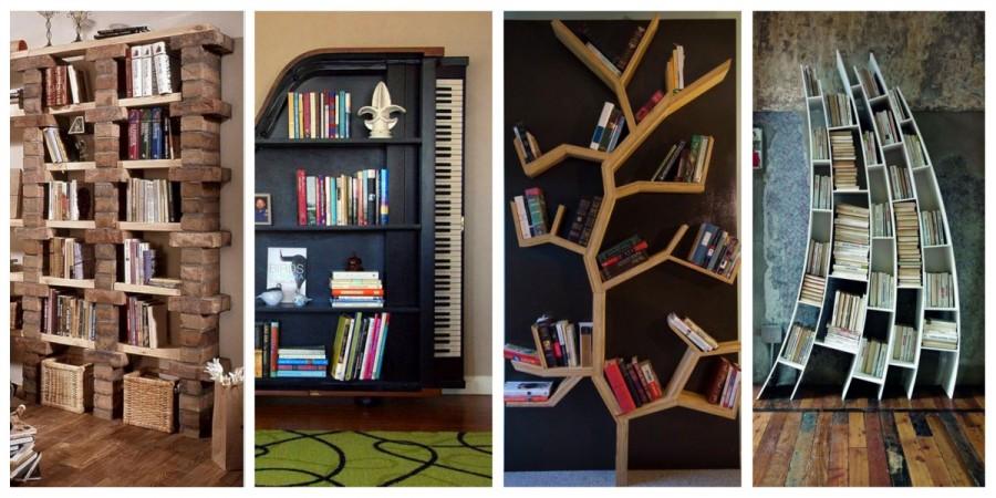 37 nápadů na originální knihovny