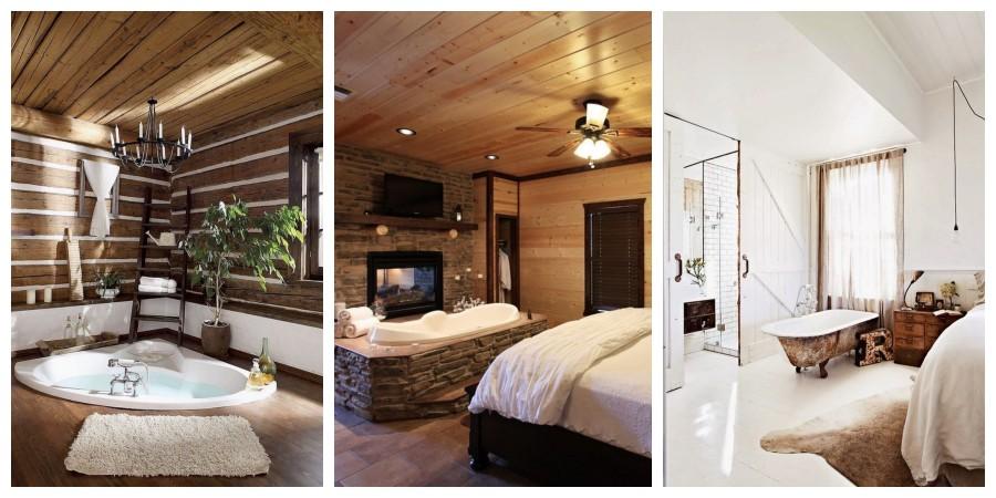 20 nápadů na skvělou ložnici s vanou