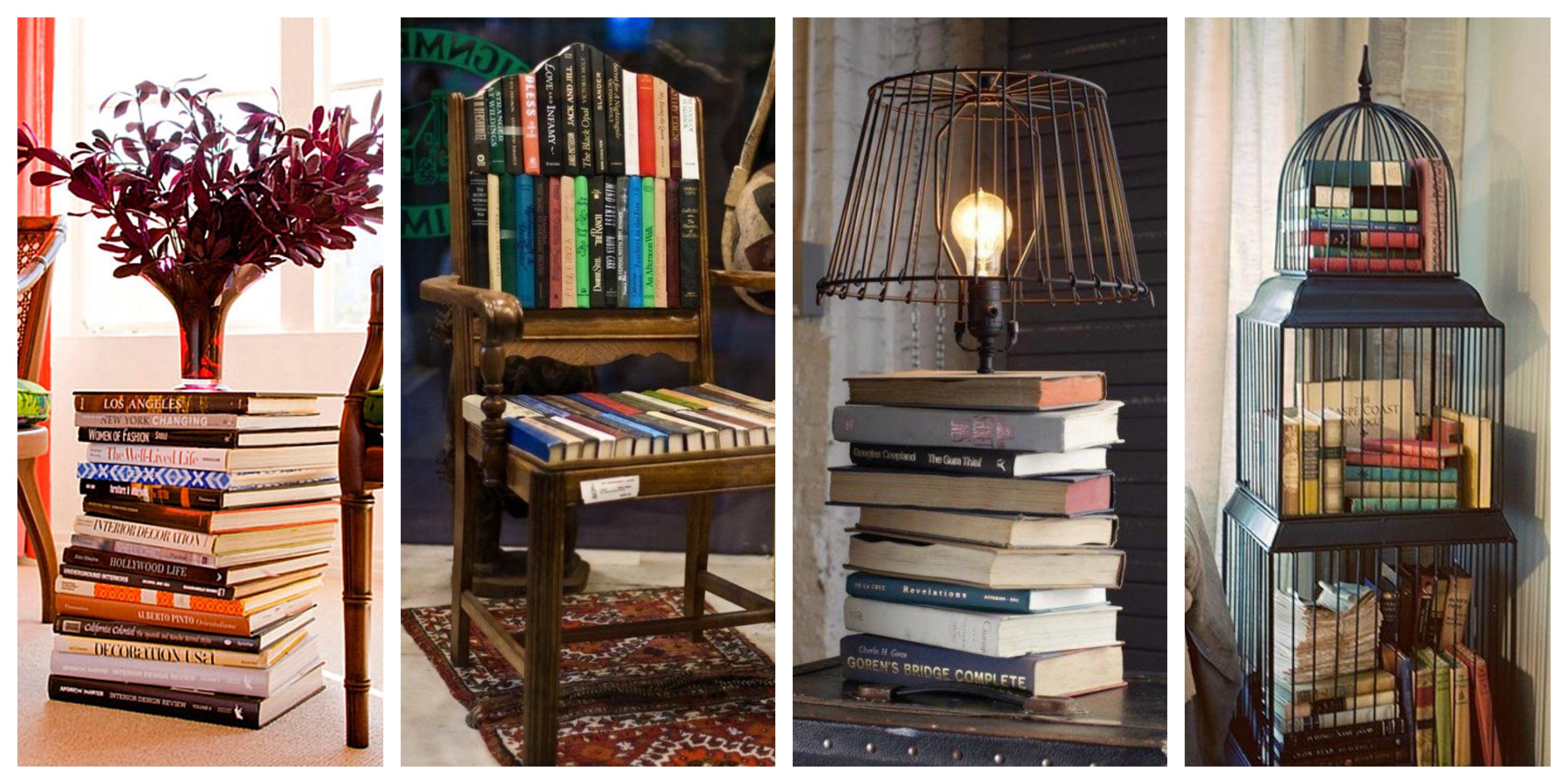 20 originálních nápadů na dekorace ze starých knih