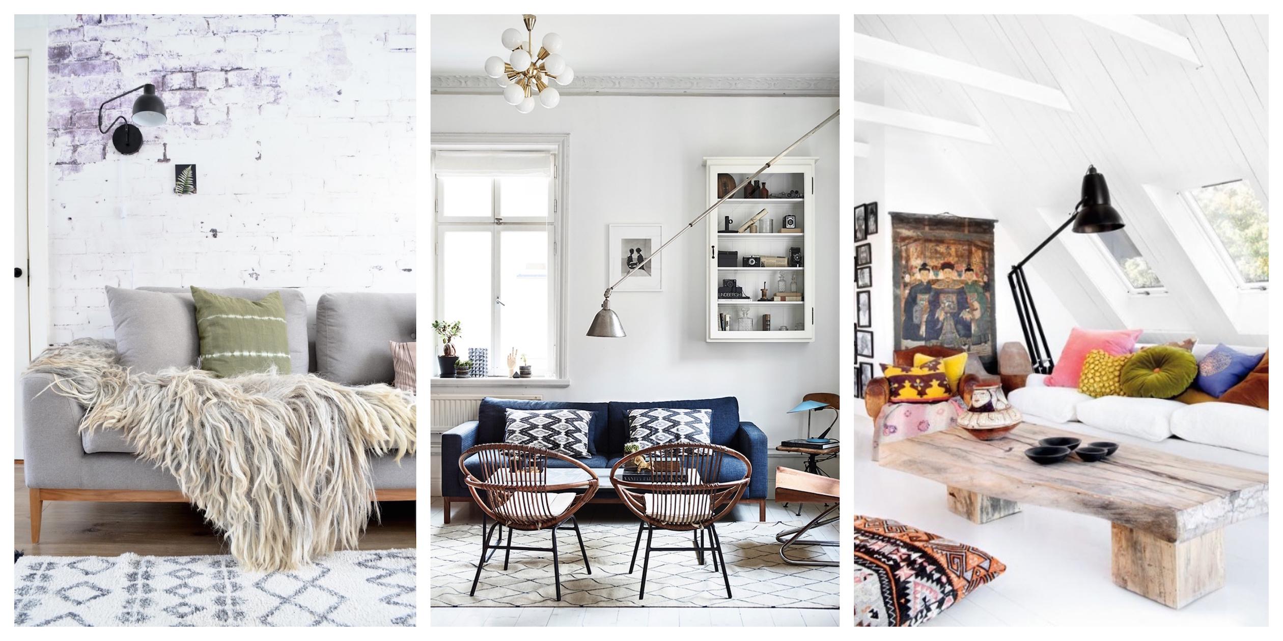 25+ nápadů jak zkombinovat skandinávský a bohémský styl v interiéru
