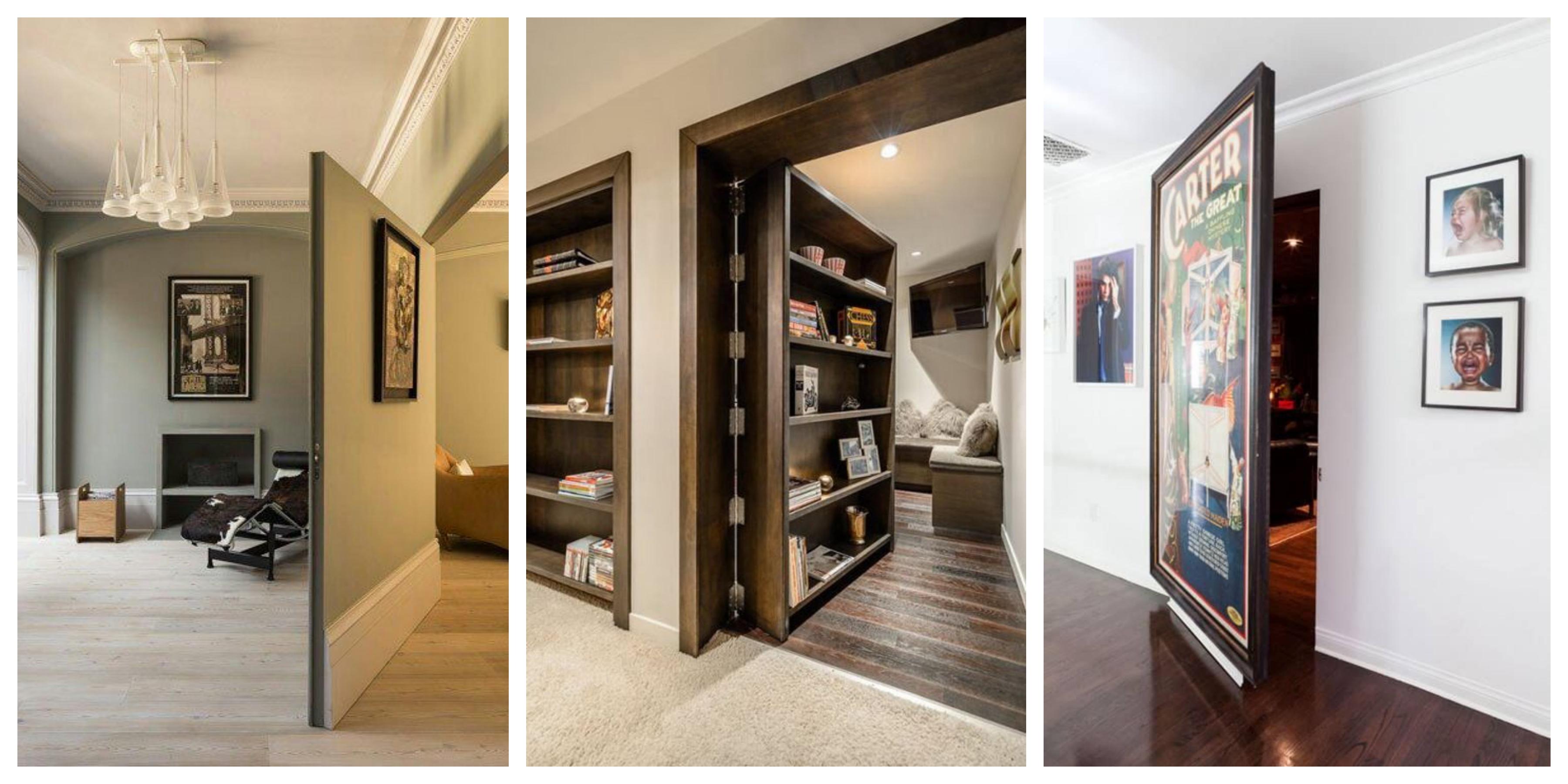 20 nápadů na tajné dveře a chodby v domě