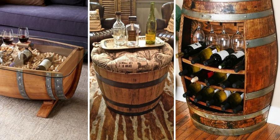 20 nápadů, jak využít v interiéru staré sudy na víno