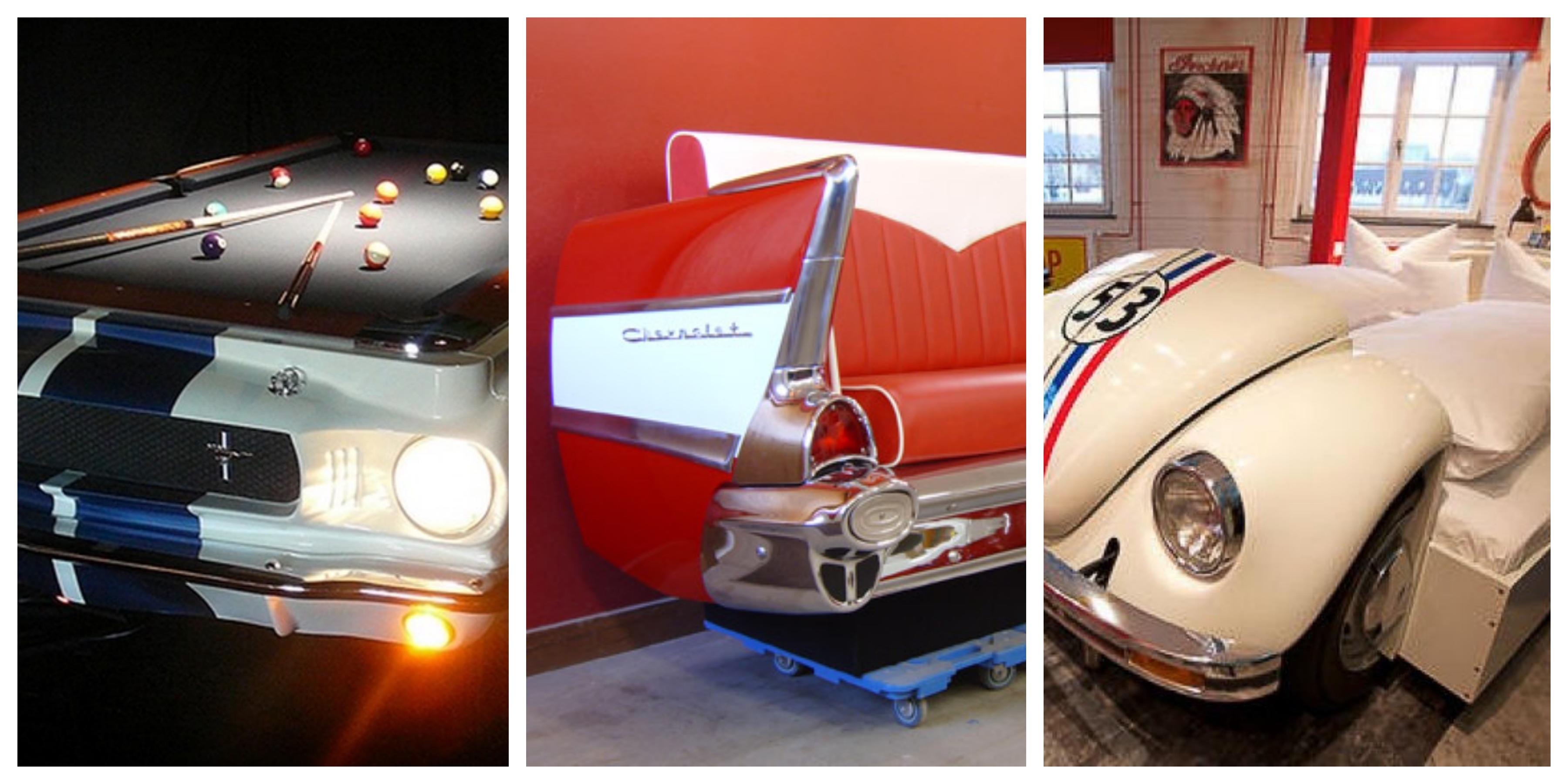 20+ úchvatných nápadů na využití starého auta v interiéru