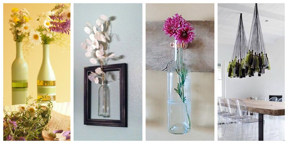 25 nápadů jak využít staré lahve v interiéru