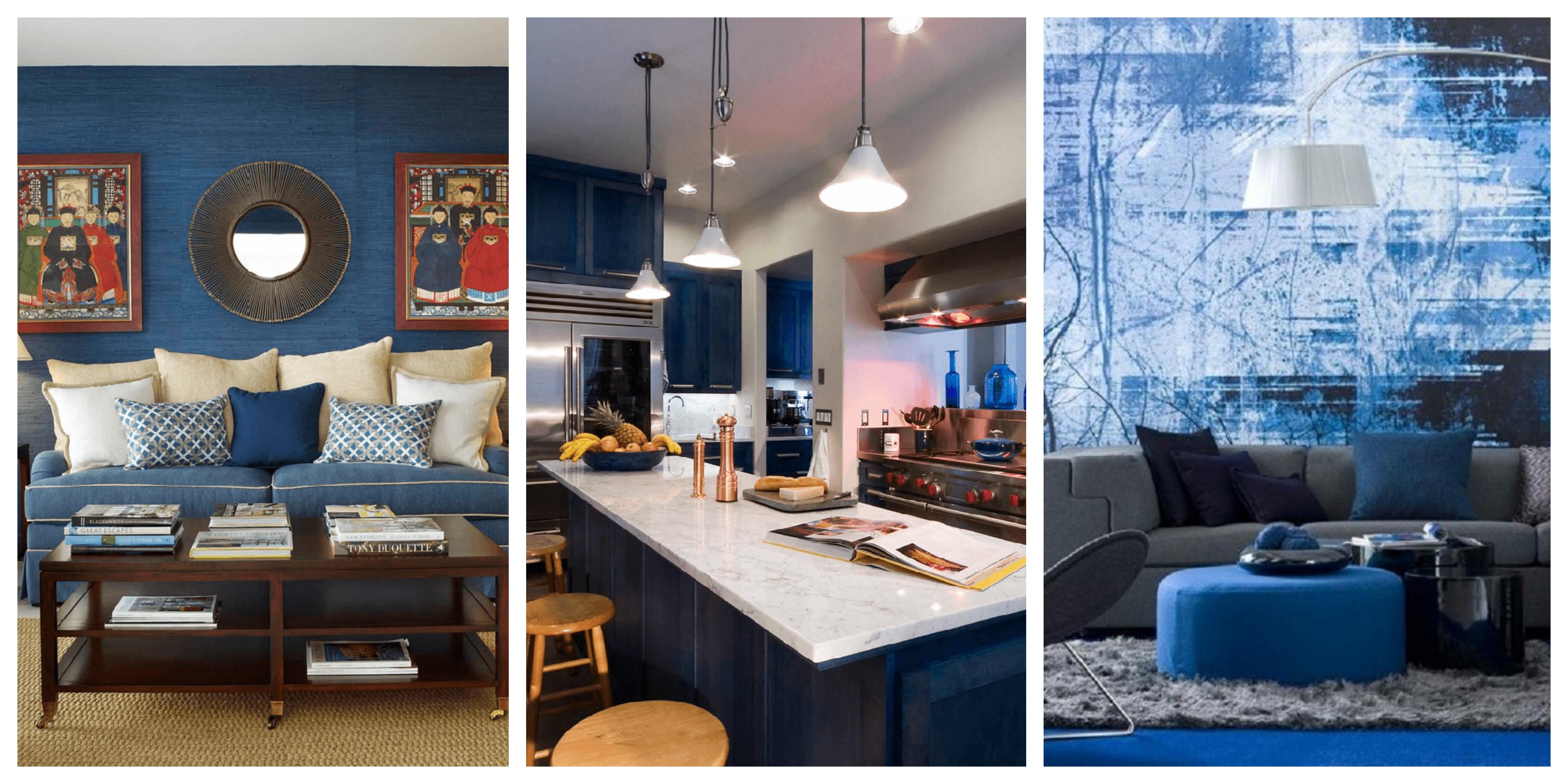 20+ tipů na využití modrého odstínu indigo v interiéru