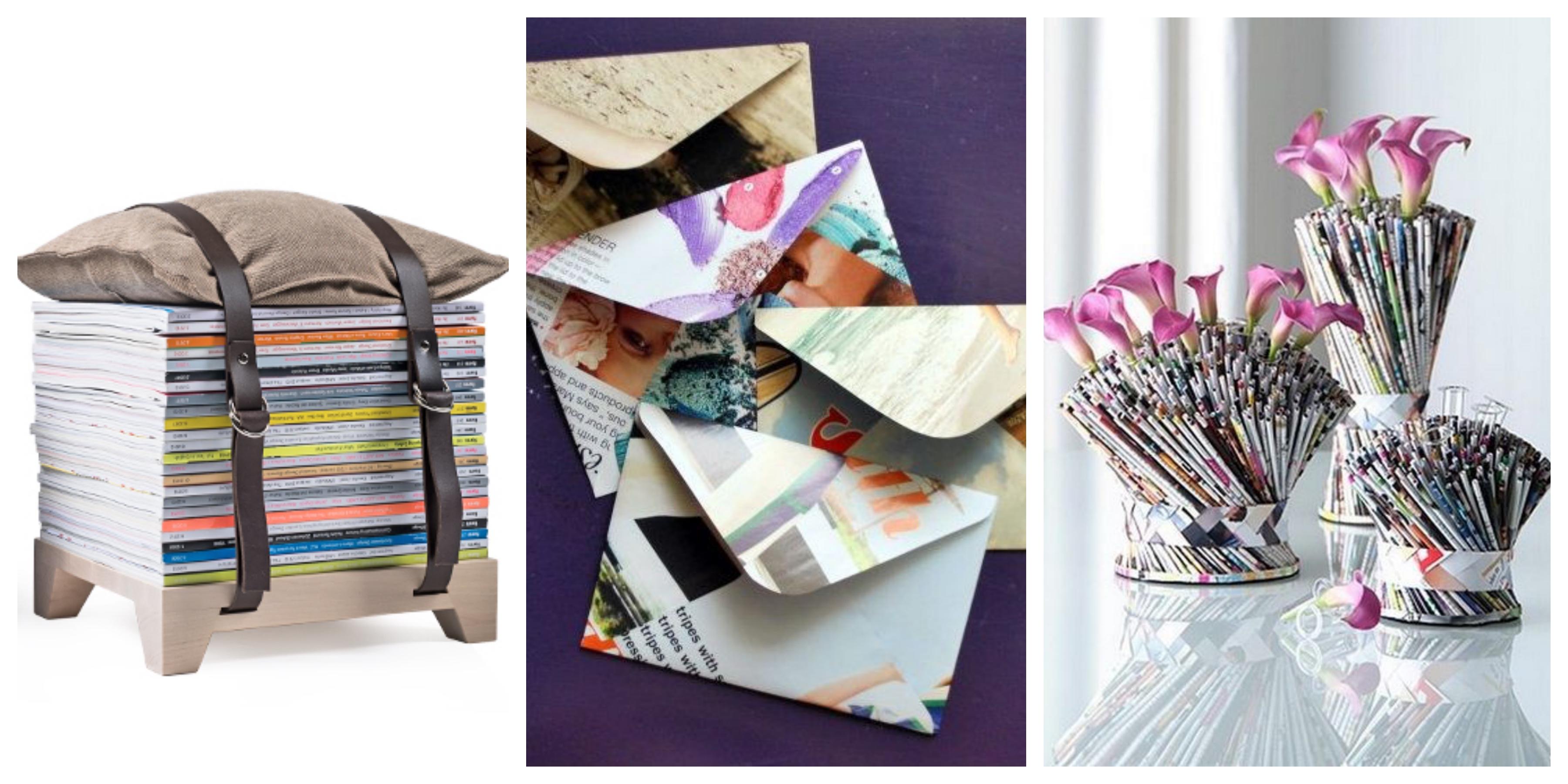 20 skvělých nápadů na recyklaci starých časopisů