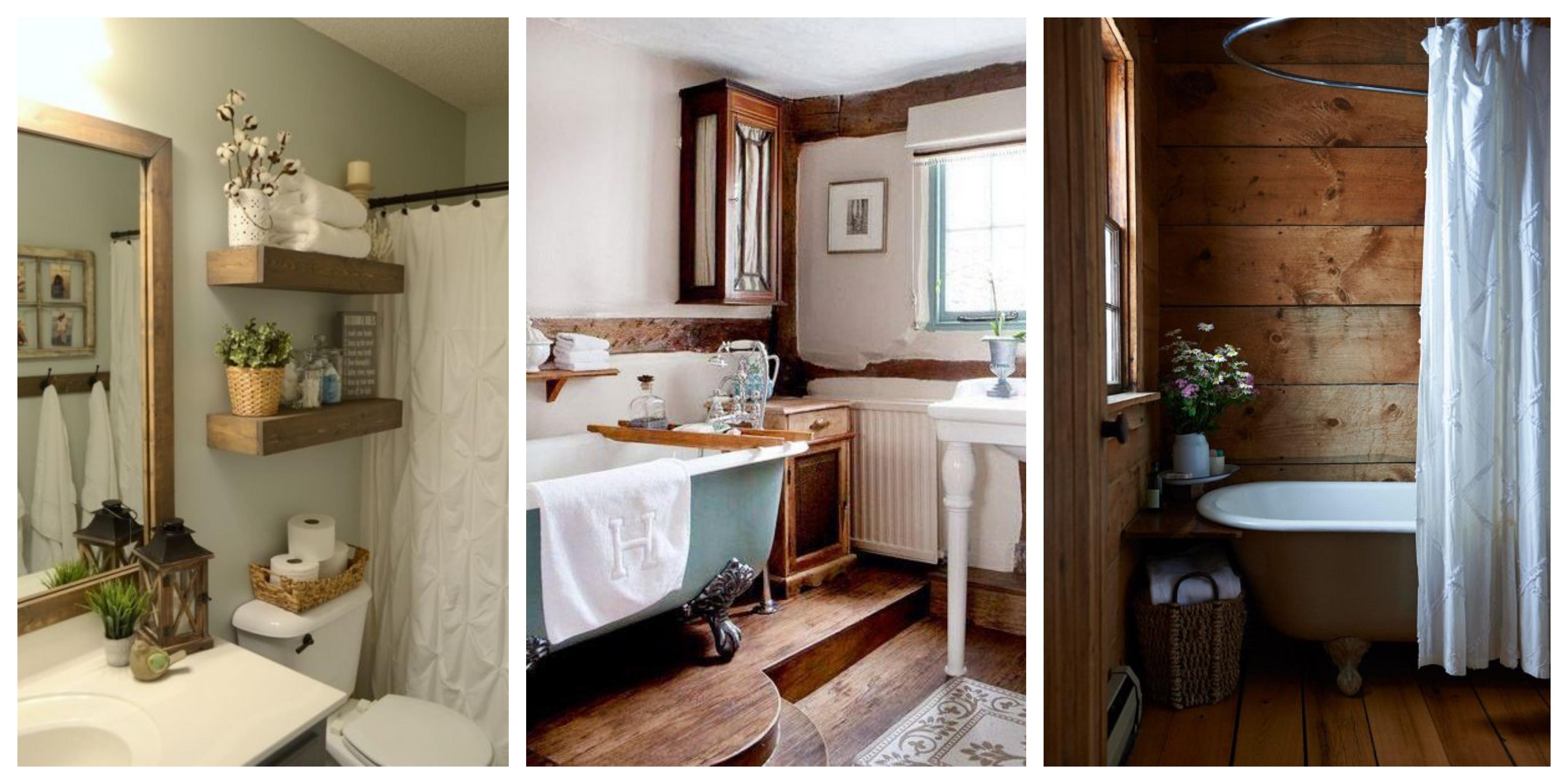 Stylová koupelna inspirace na chalupu, fotogalerie