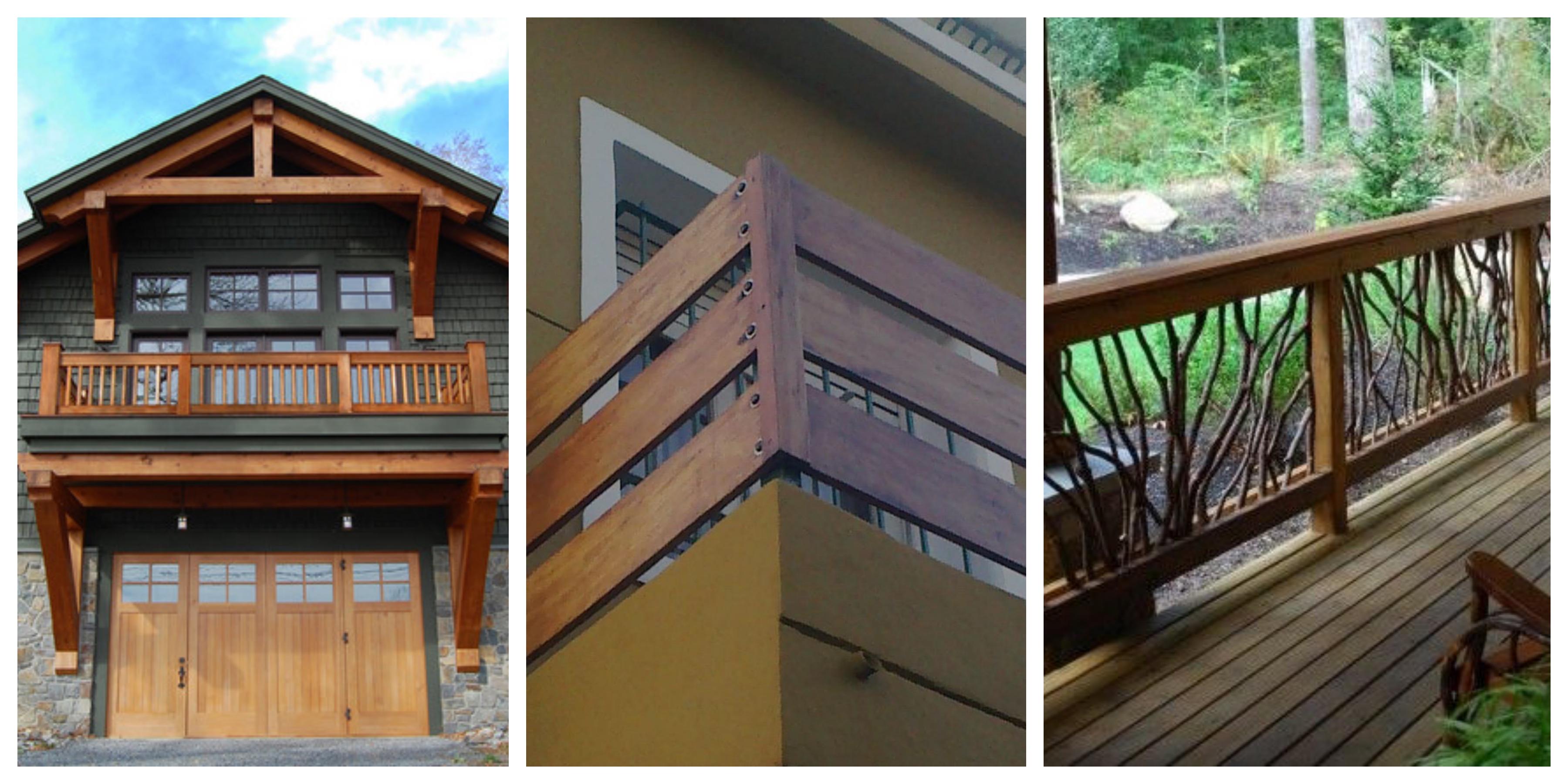 Dřevěné balkony inspirace, fotogalerie