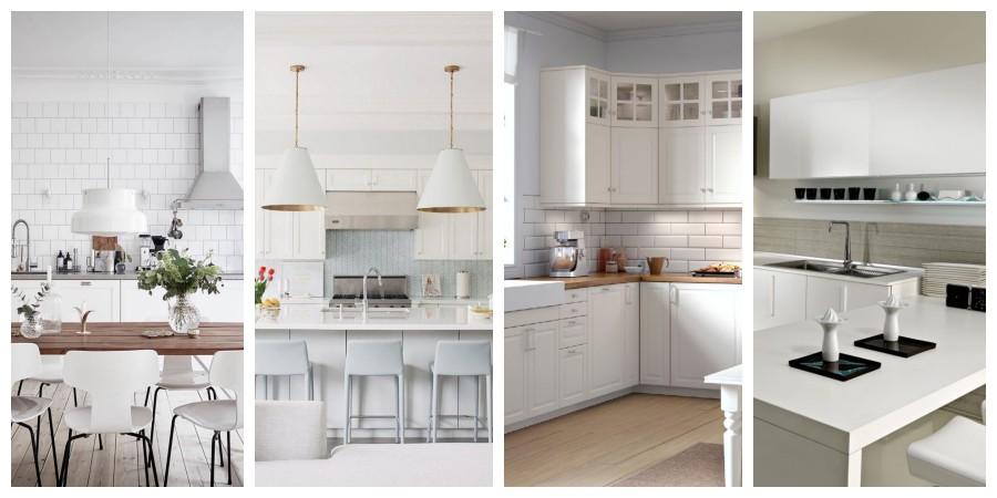 Bílá kuchyně inspirace, fotogalerie