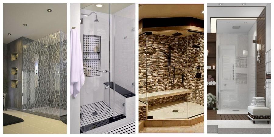 Koupelny se sprchovým koutem inspirace, fotogalerie