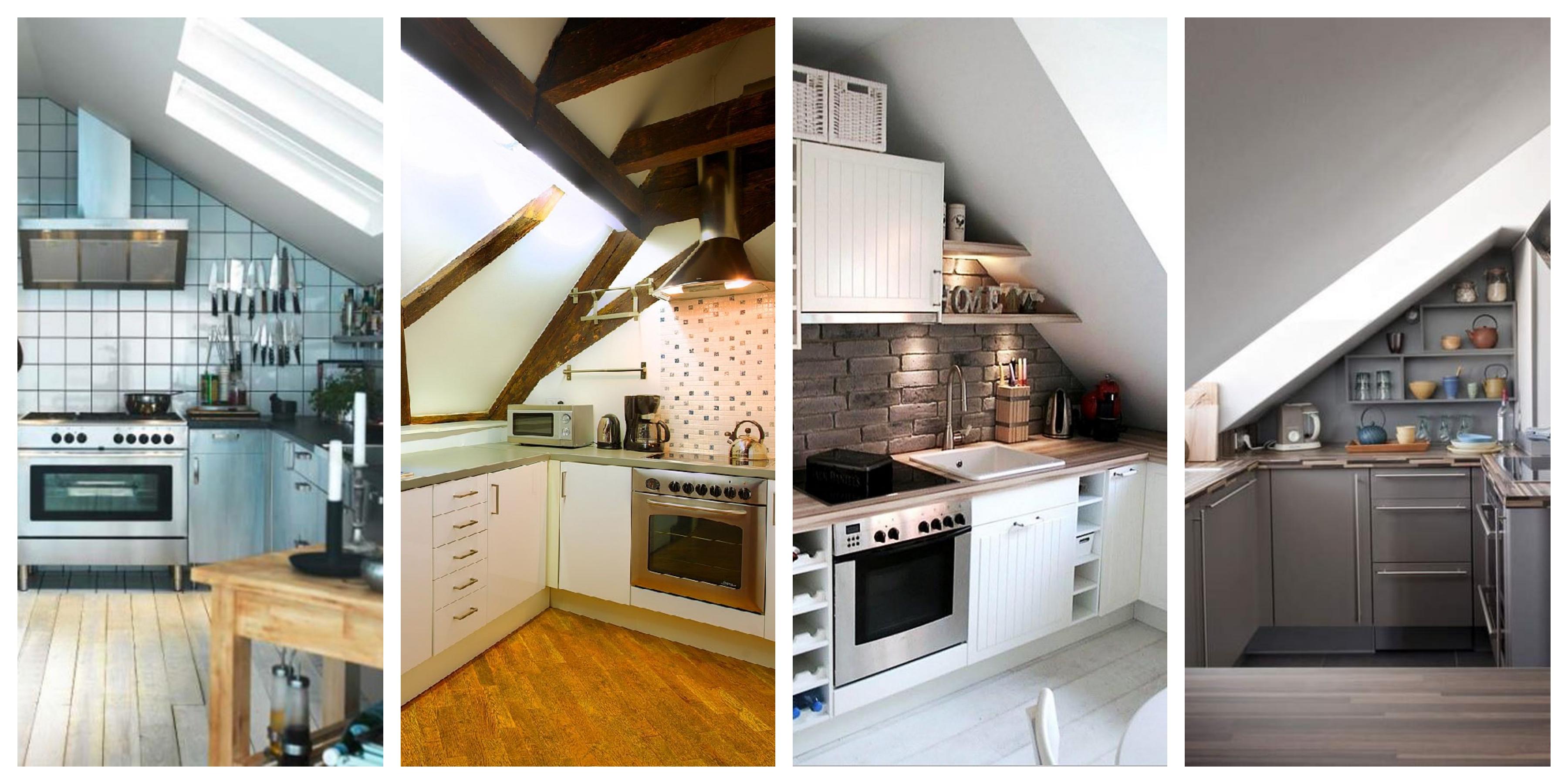 Podkrovní kuchyně inspirace, fotogalerie