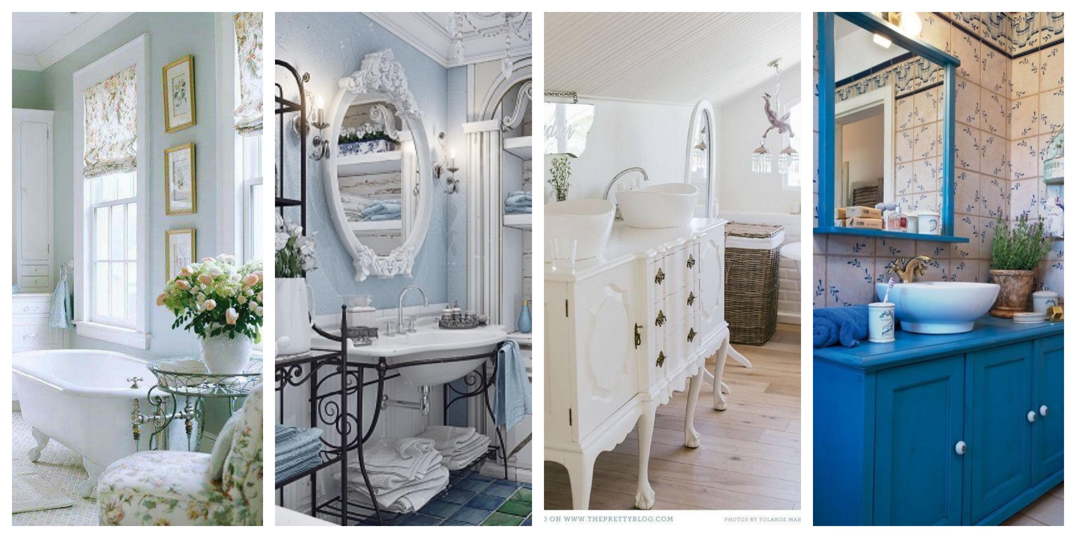 Inspirace koupelny ve stylu provence, fotogalerie