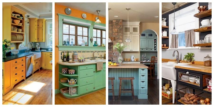 Kuchyně na staré chalupě - inspirace, fotogalerie