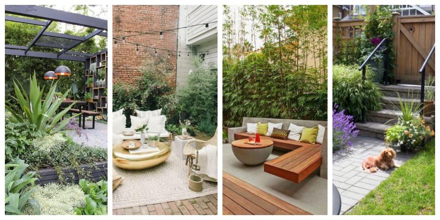 Malá zahrada s terasou - inspirace, fotogalerie
