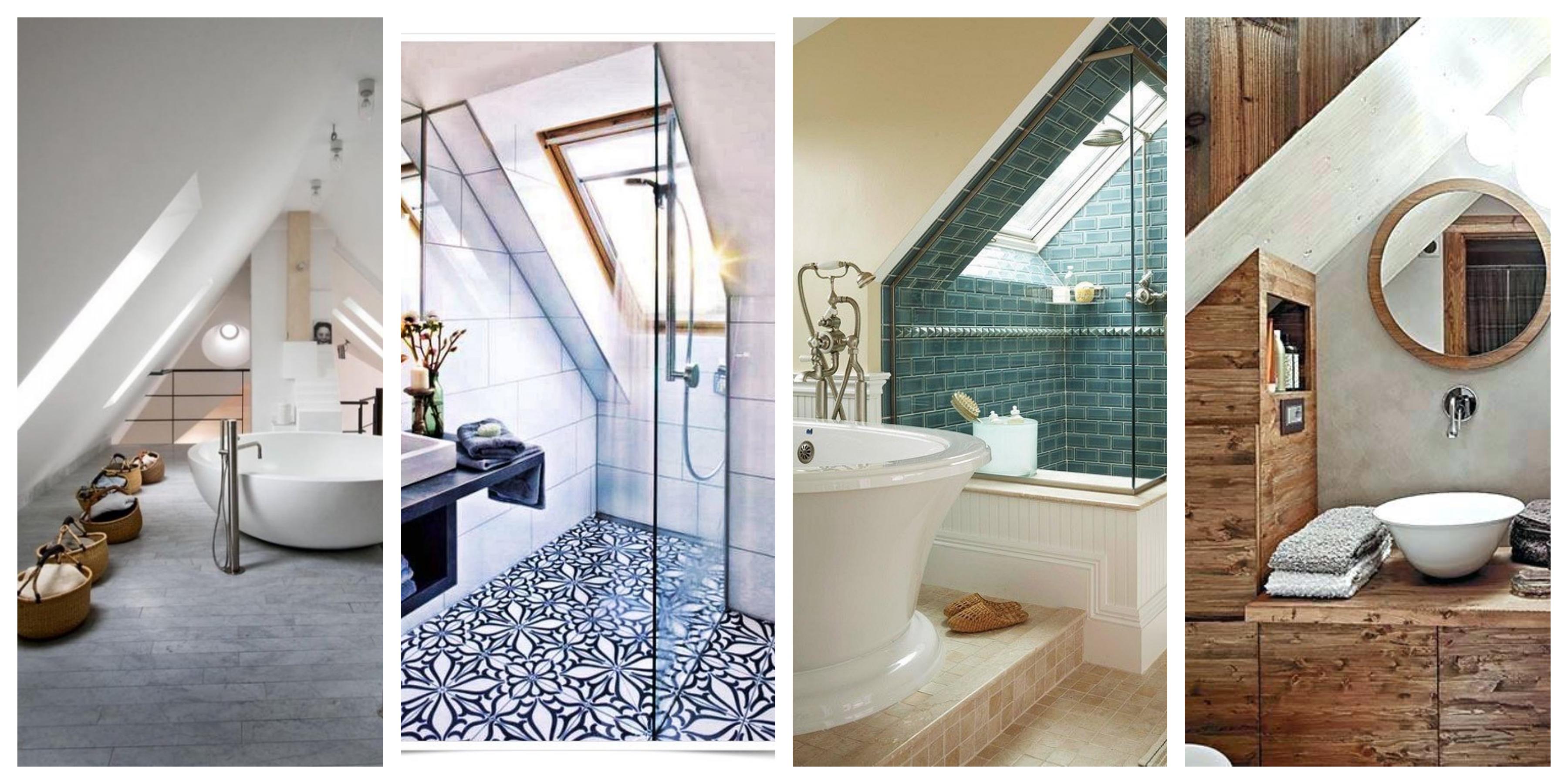 Podkrovní koupelny - inspirace, fotogalerie