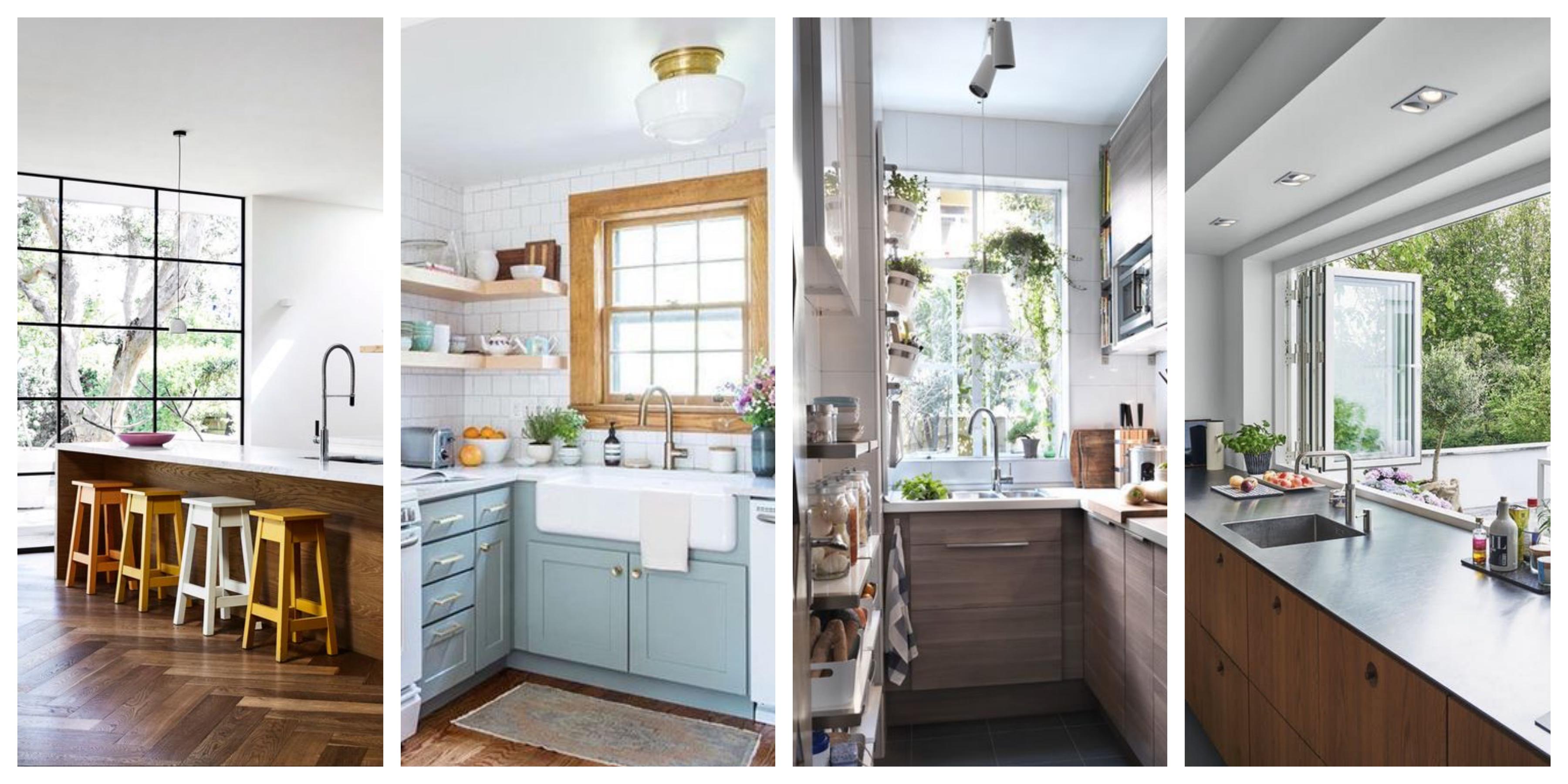 Okno v kuchyni - inspirace, fotogalerie