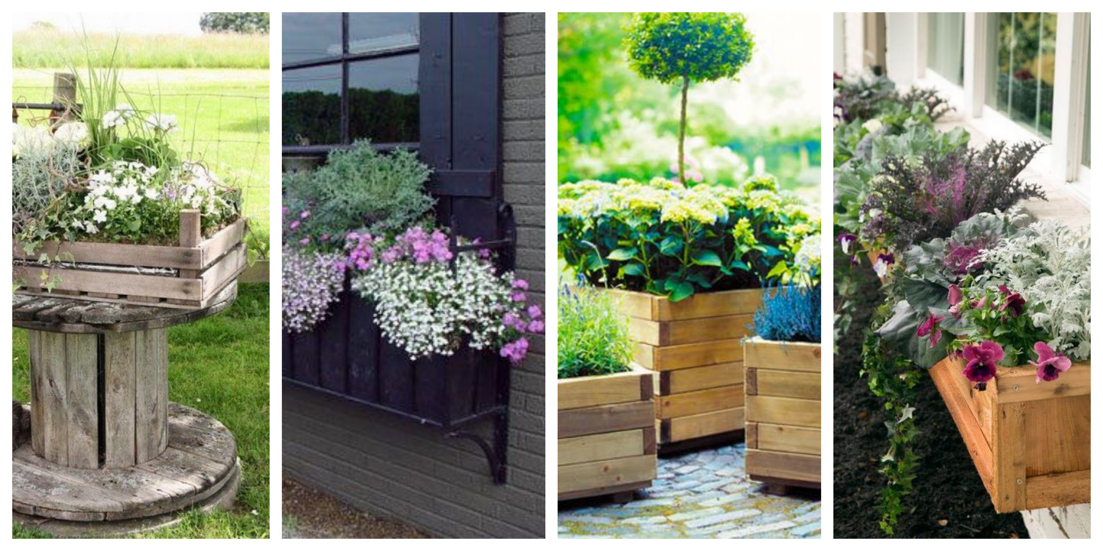 Květinové truhlíky - inspirace, fotogalerie