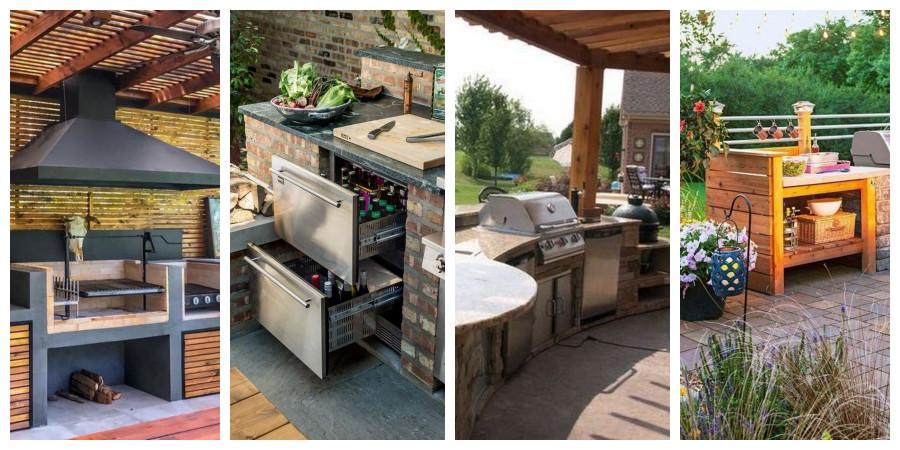 Venkovní letní kuchyně