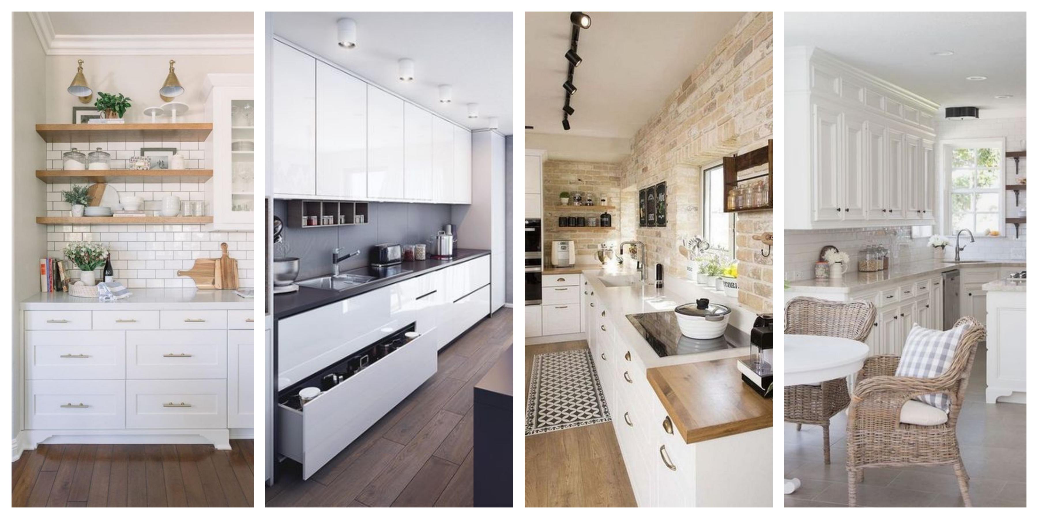 Bílá kuchyň - inspirace, fotogalerie