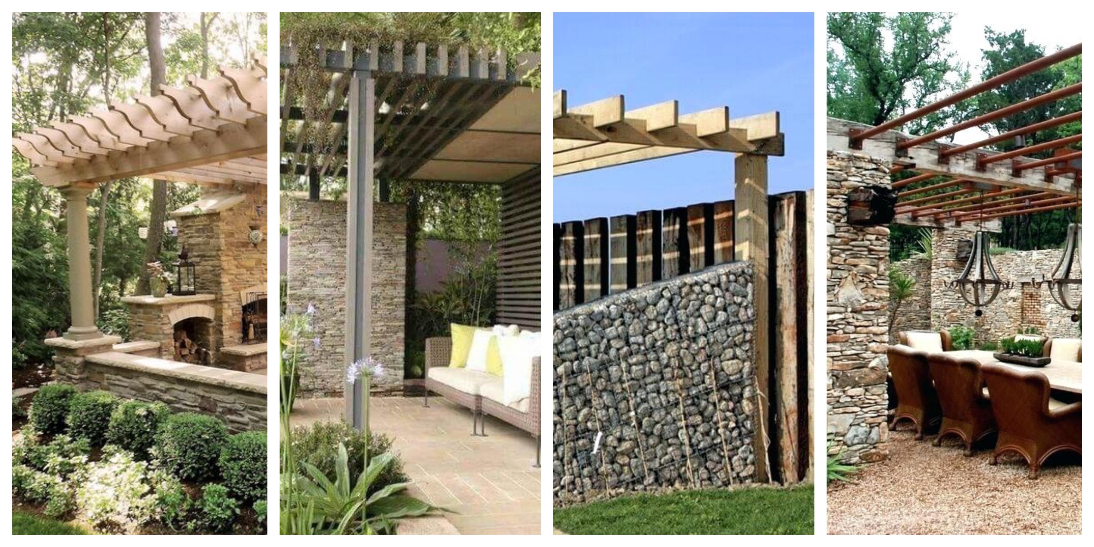 Zahradní kamenné pergoly - inspirace, fotogalerie