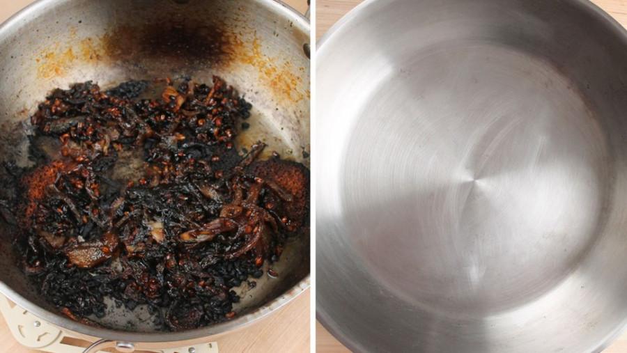 Jak vyčistit připálený hrnec