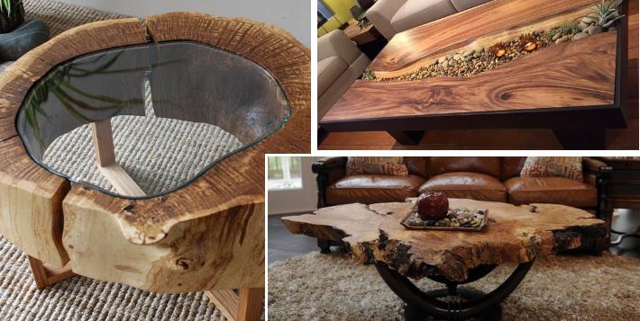 15 dřevěných konferenčních stolků, které přemění celý obývák