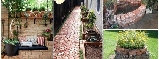 20 nápadů, jak na zahradě kouzlit s cihličkami