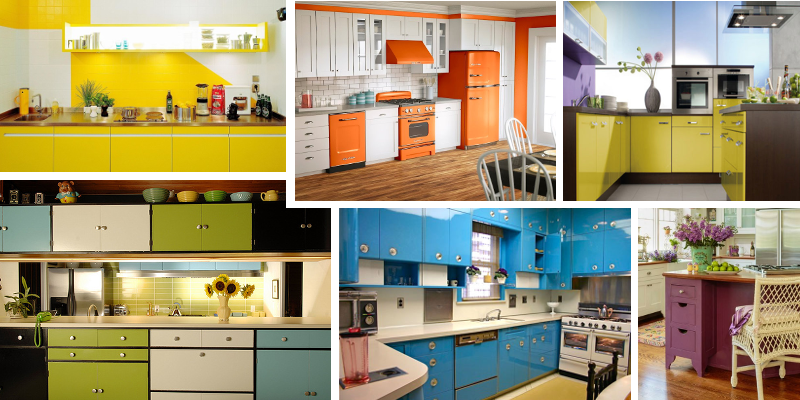20+ způsobů, jak vkusně oživit kuchyň barvami