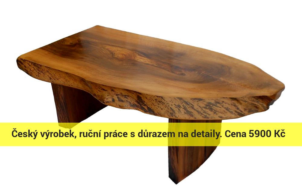 Konferenční stolek z dřeva ořechu evropského