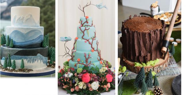14 nádherných dortů s přírodní tematikou