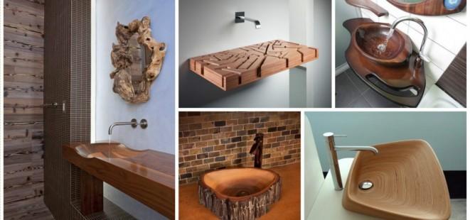13 dřevěných umyvadel, které zaujmou každou návštěvu